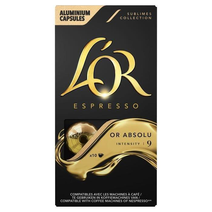 L'OR Espresso or absolu koffiecups (10 × 52g)