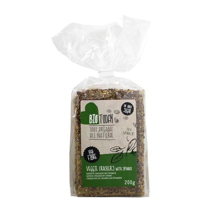 Bio Today Groente Crackers met Spinazie 200 g (200g)