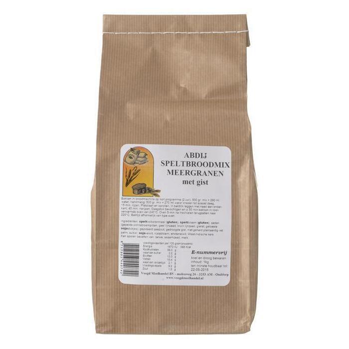 Speltbroodmix meergranen met gist (1kg)