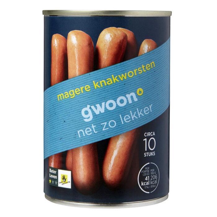 g'woon Knakworsten mager (400g)