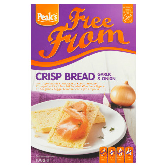 Free From Crisp Bread Garlic & Onion (2 × 65g)