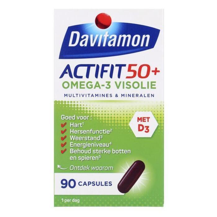 Davitamon Actifit 50+ omega-3 visolie capsules (90 × 100g)