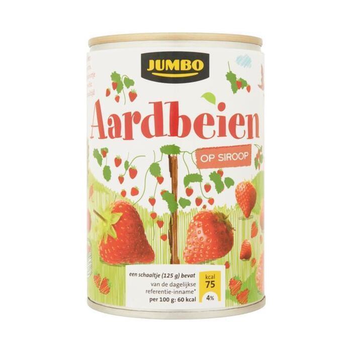 Aardbeien op siroop (blik, 410g)