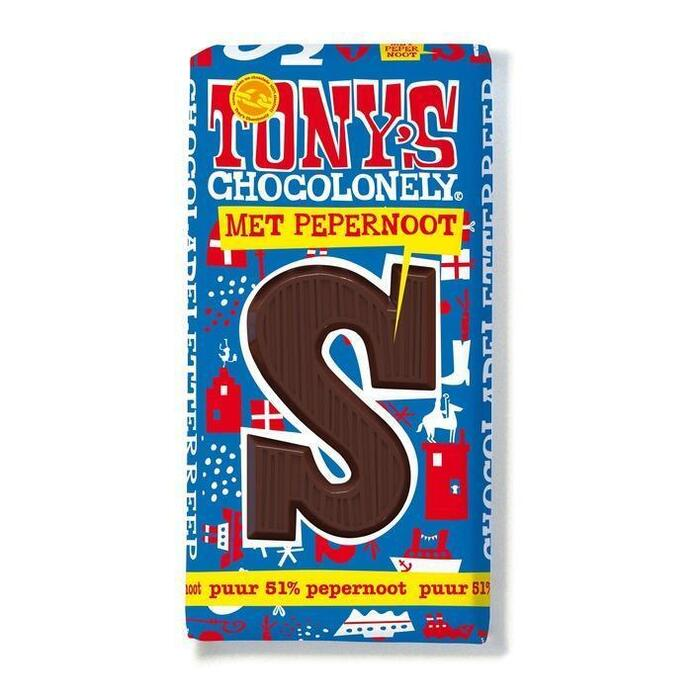 Tony's Chocolonely Letterreep Puur Pepernoot S (180g)