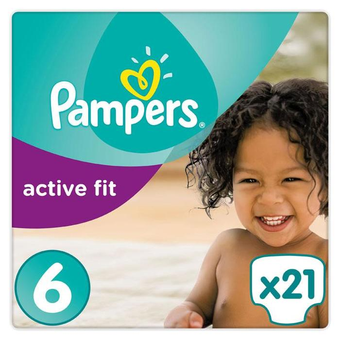 Pampers Active Fit Luiers Maat 6 (Extra Large) 15+ kg 21 Luiers (21 st.)