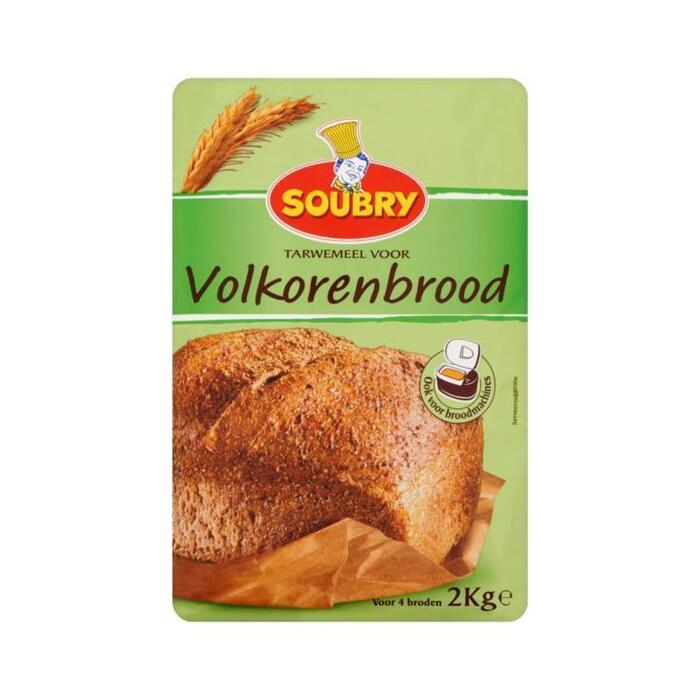 Soubry Tarwemeel voor Volkorenbrood 2kg (2kg)