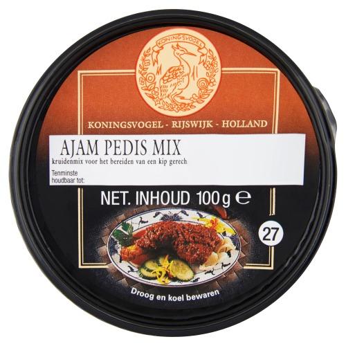 Koningsvogel boemboe ajam pedis mix bakje 100 gram (100g)