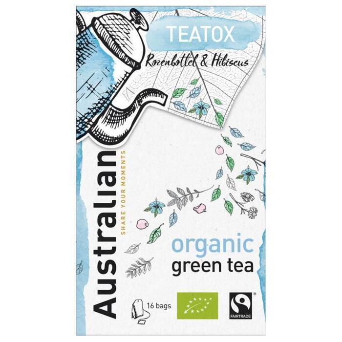 Australian Teatox green tea biologisch (16 × 1.6g)