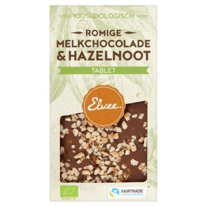 Melk hazelnoot tablet BIO/FT (Stuk, 85g)