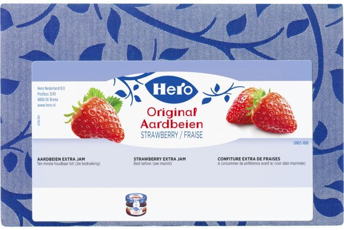 HERO Original Jam Aardbeien 72 x 28,3g Doos (72 × 28.3g)