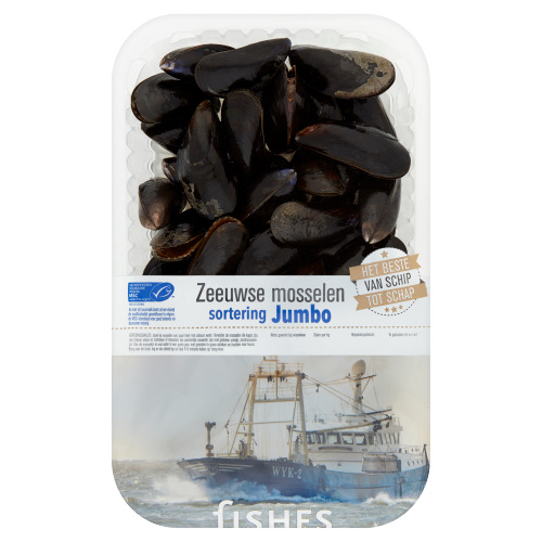 Fishes Zeeuwse Mosselen Sortering Jumbo 1 kg (1kg)