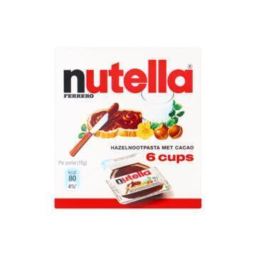 Nutella 6 cups (6 × 15g)