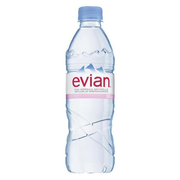Evian Natuurlijk mineraalwater (6 × 0.5L)
