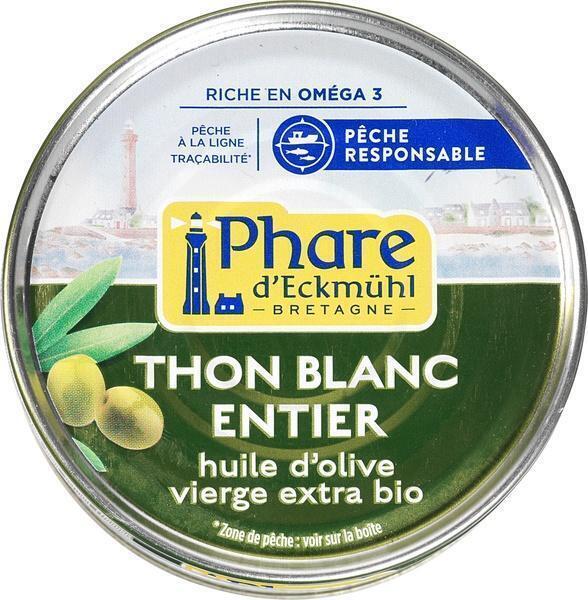 Witte tonijn in olijfolie (blik, 160g)