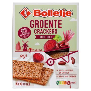 Bolletje Groente Crackers Rode Biet 4 x 4 Stuks 200 g (200g)