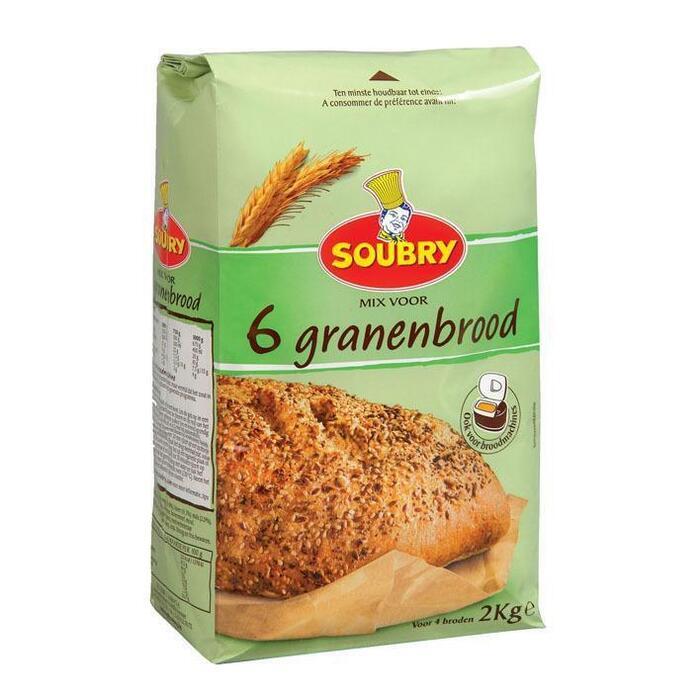 Mix 6 granen brood (2kg)