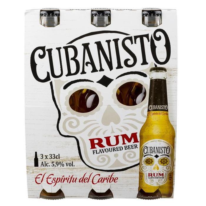 Cubanisto Rum flavoured beer (3 × 33cl)