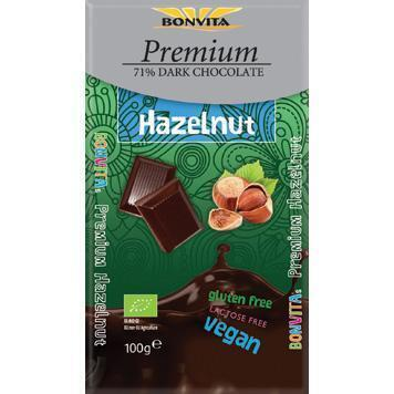 Hazelnoot 71% Dark chocolate (100g)