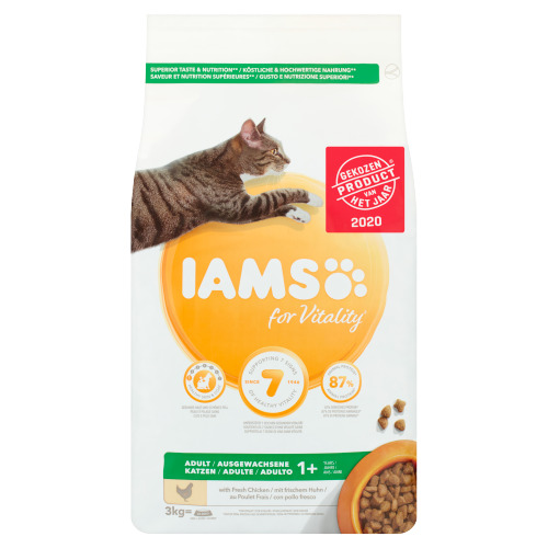 Iams for Vitality Adult 1+ Years with Fresh Chicken 3 kg (3kg)