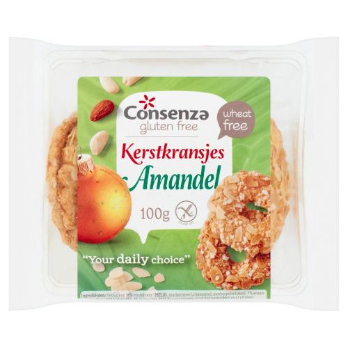 Consenza Glutenvrije Amandel Kransjes (100g)