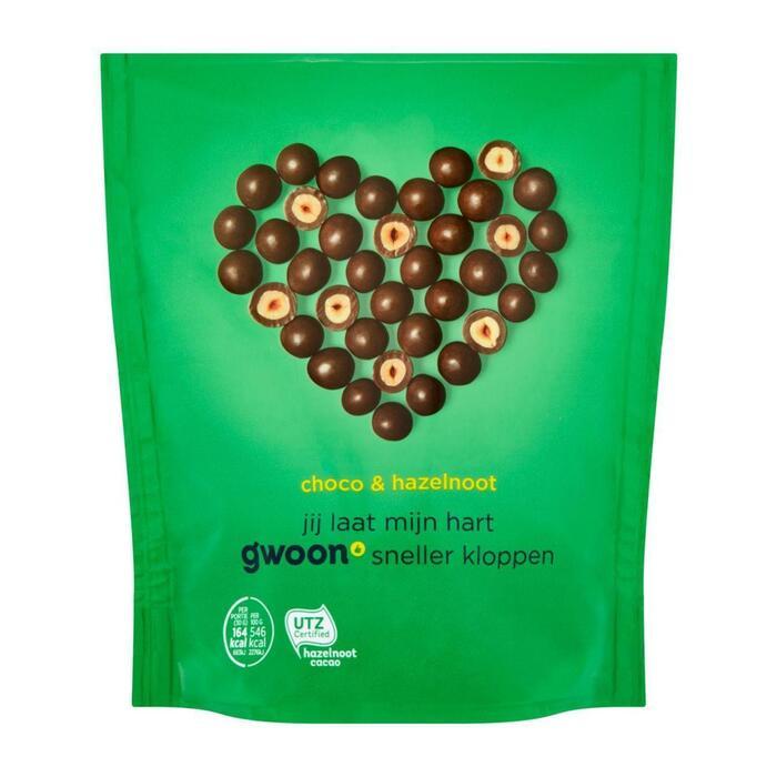 g'woon Choco hazelnoot (plastic zak, 200g)