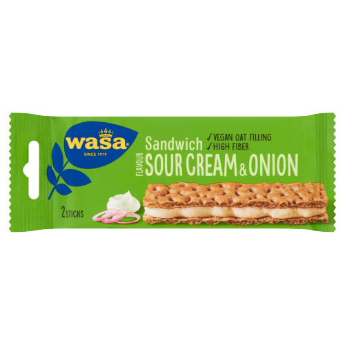 Wasa Sandwich Flavour Sour Cream & Onion 3 Stuks 99 g (3 × 99g)