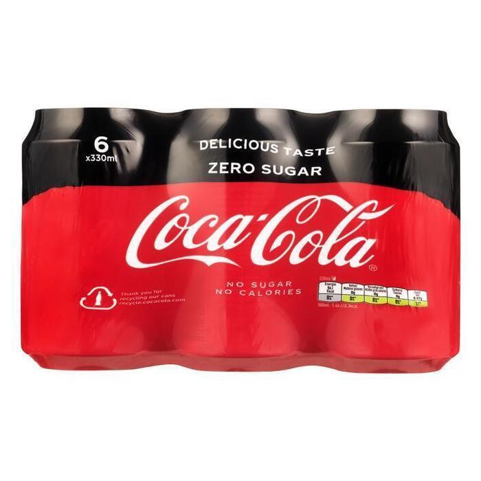 Coca Cola Zero (rol, 6 × 33cl)