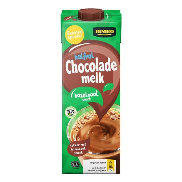 Jumbo Halfvol Chocolademelk Hazelnoot Smaak 1L (1L)