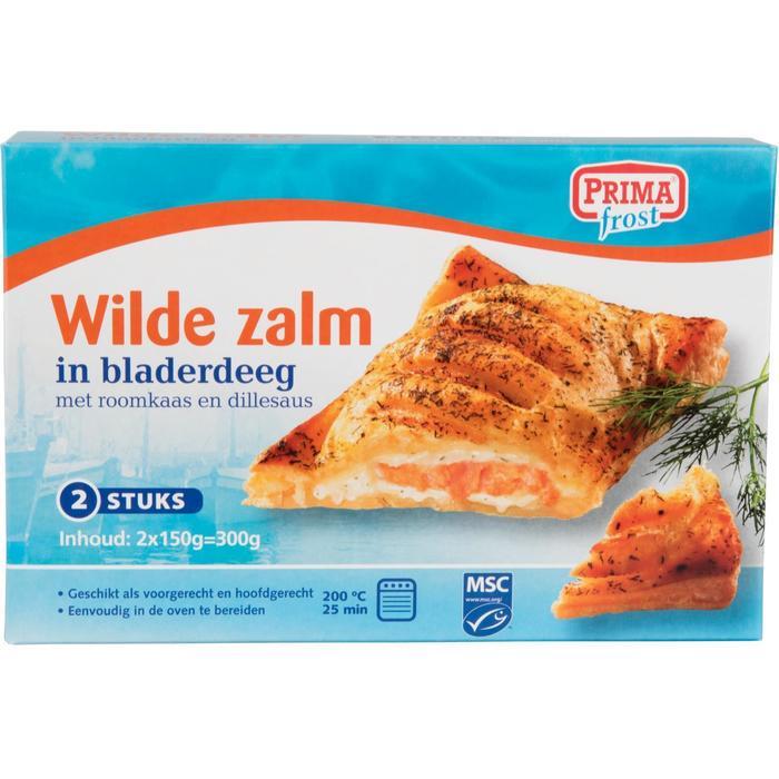 91020 Primafrost Wilde Zalm in Bladerdeeg 2x150 gr (2 × 300g)