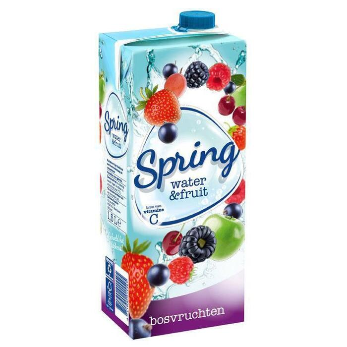 Spring Water & fruit bosvruchten (1.5L)