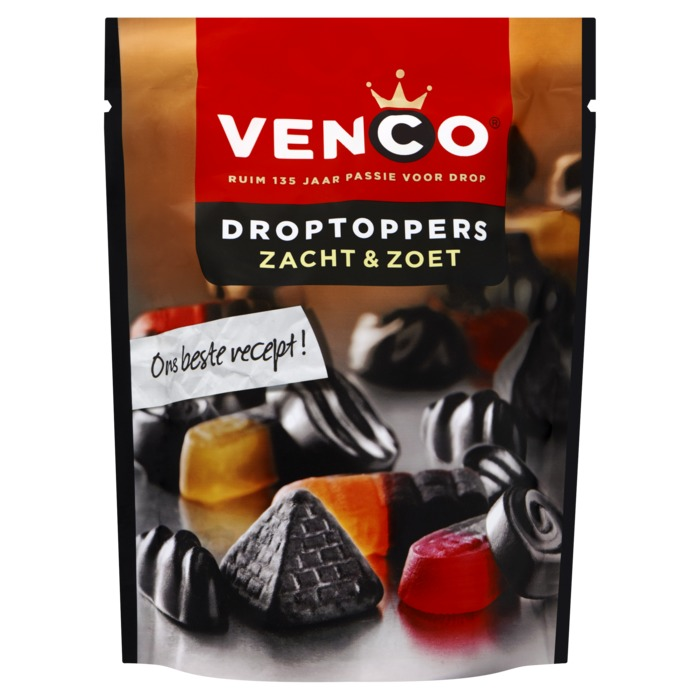 Venco Droptoppers Zacht & Zoet 276 g (276g)