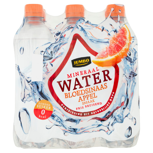 Jumbo Mineraalwater Bloedsinaasappelsmaak 6 x 500 ml (6 × 0.5L)