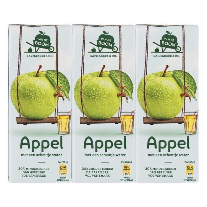 Van de Boom Appel met scheutje water 30% min suiker (6 × 200ml)