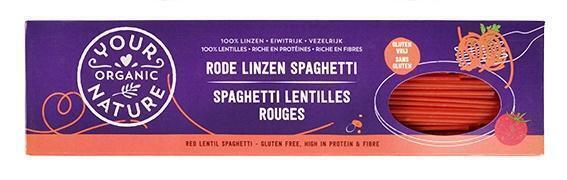 Rode linzen spaghetti (250g)