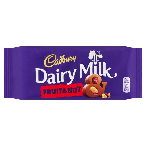 Cadbury Dairy Milk Fruit & Nut 110 g (110g)