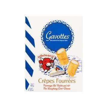 GAVOTTES GEVULDE WAFELTJES THE LAUGHING COW CHEESE 60 G DOOS (60g)