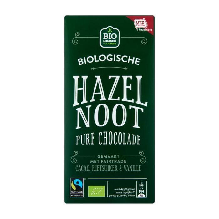 Jumbo Biologische Hazelnoot Pure Chocolade 100g (100g)