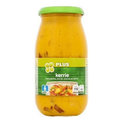 Roerbaksaus kerrie met paprika, wortel en ananas (Pot, 0.5L)