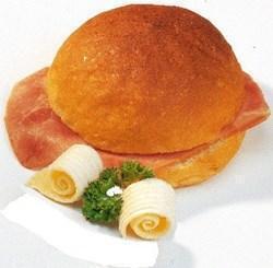 Bruine broodjes ham dubbel belegd (75g)