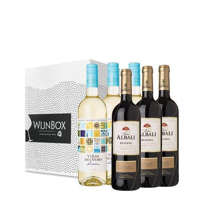 De lekker lang tafelen wijnbox (6 × 0.75L)