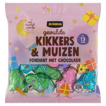 Jumbo Gevulde Kikkers en Muizen Fondant met Chocolade 208 g (208g)