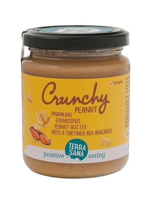 Pindakaas crunchy TerraSana 250g (250g)