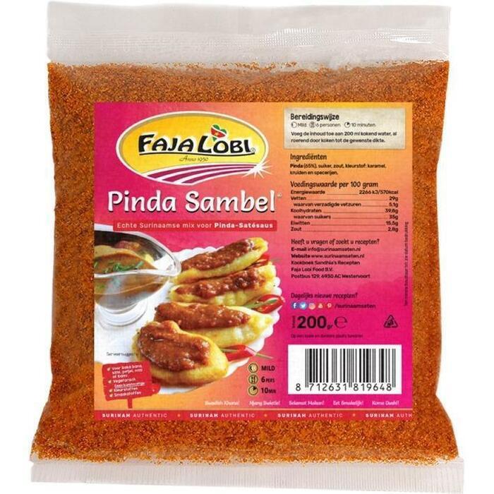 Faja Lobi Pinda Sambel Pikant 200g (Stuk, 200g)