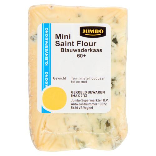 Jumbo Mini Saint Flour Blauwaderkaas 60+ Kleinverpakking 106 g (106g)