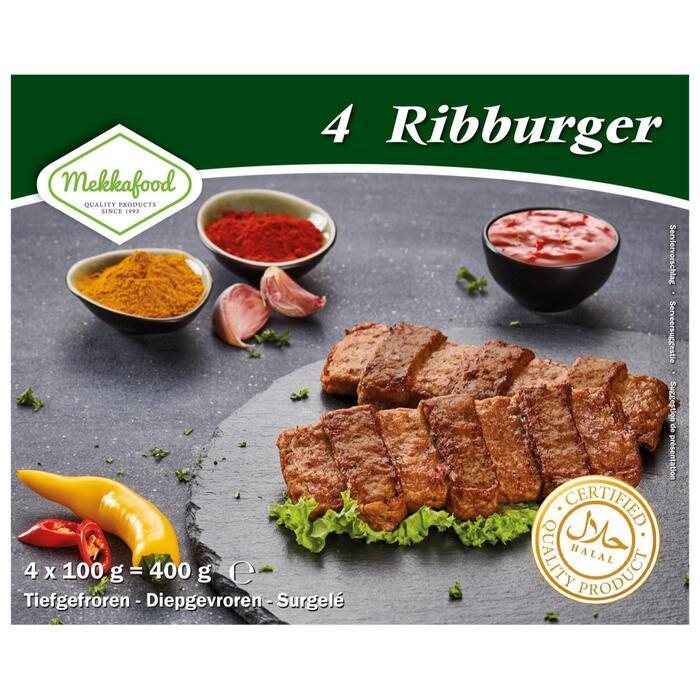 Mekkafood Ribburger 4 x 100g (4 × 400g)