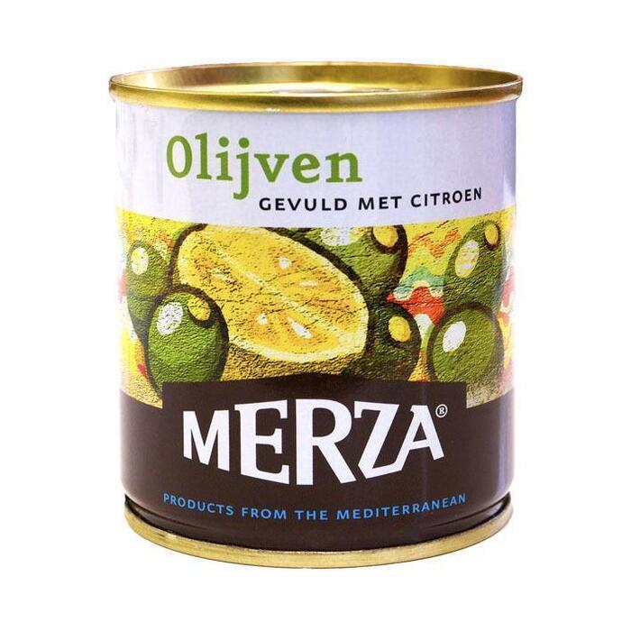Merza Groene olijven gevuld met citroen (200g)