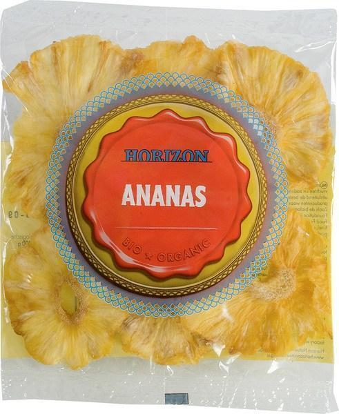 Biologische gedroogde Ananas (zak, 60g)