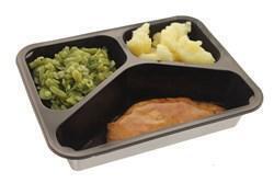 Kalkoenstooflap jus snijbonen gekookte aardappelen (500g)