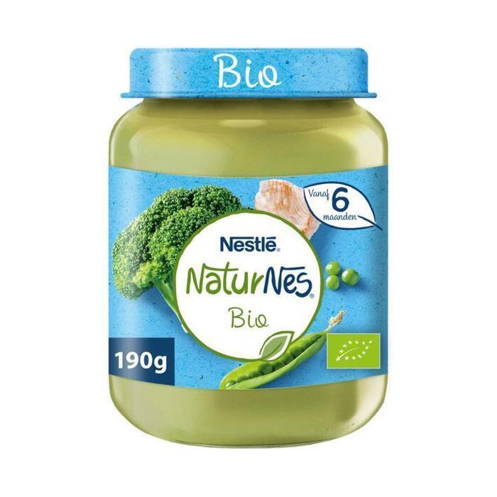 NaturNes Broccoli doperwt kalkoen 6+m babyvoeding (190g)