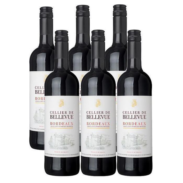 Cellier Bellevue Bordeaux doos (6 × 0.75L)